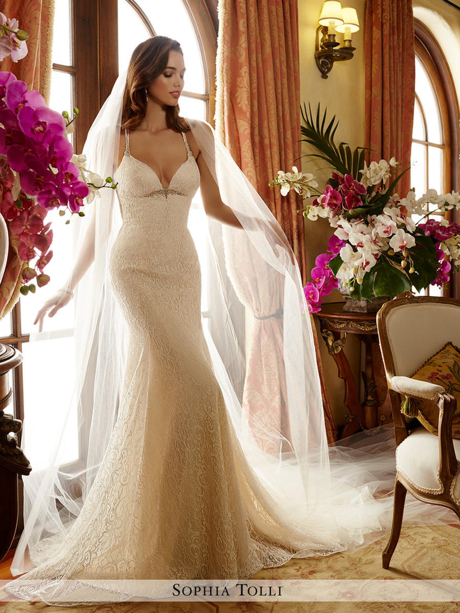 Sophia Tolli Y11718 Ivory // Retail Price $1376 | contact us for our price