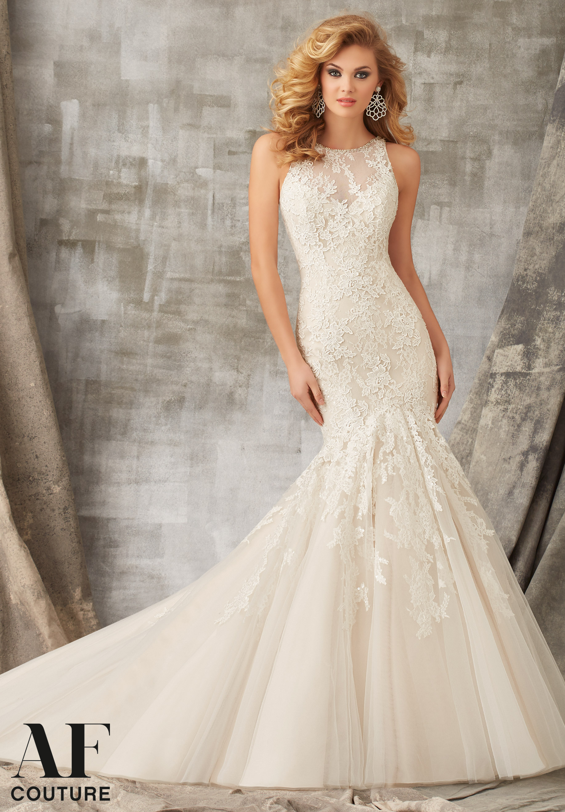 Mori Lee 1345 Ivory/Latte // Retail Price $1709 | Our Price $1195