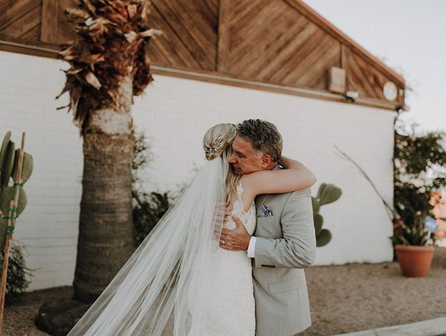 Nothing quite like a moment between a dad and daughter on her wedding day! Happy Father's Day! ❤⠀⠀ photo: @carmelajoyphotography ⠀