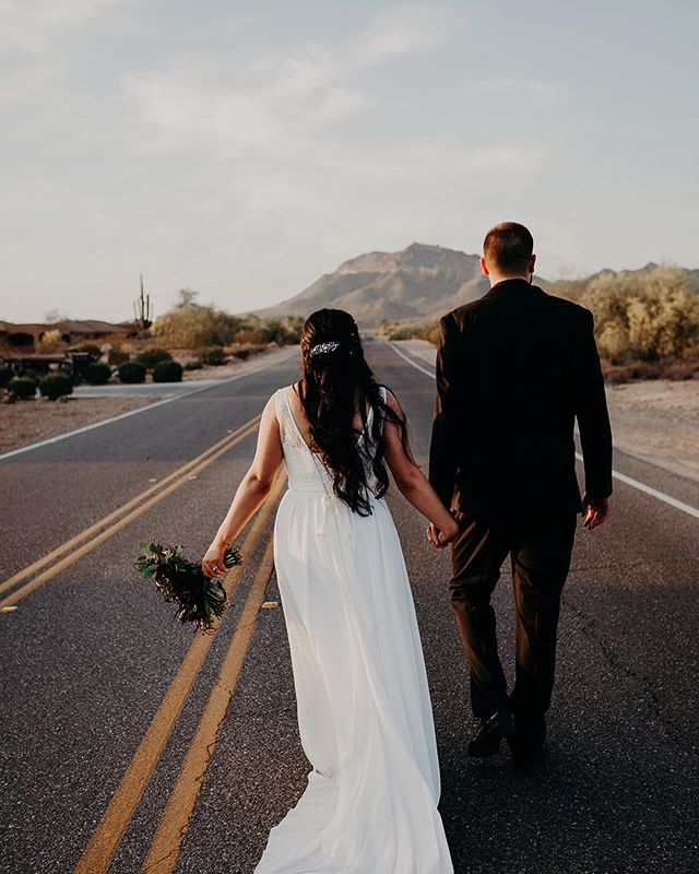 Walk together and figure out where you're going later. ✨⠀⠀ ⠀⠀ Click the [linkin.bio] to see more magical photos of #ourbrilliantbride Tara on the blog!⠀⠀ ⠀⠀ photos: @suzygoodrick