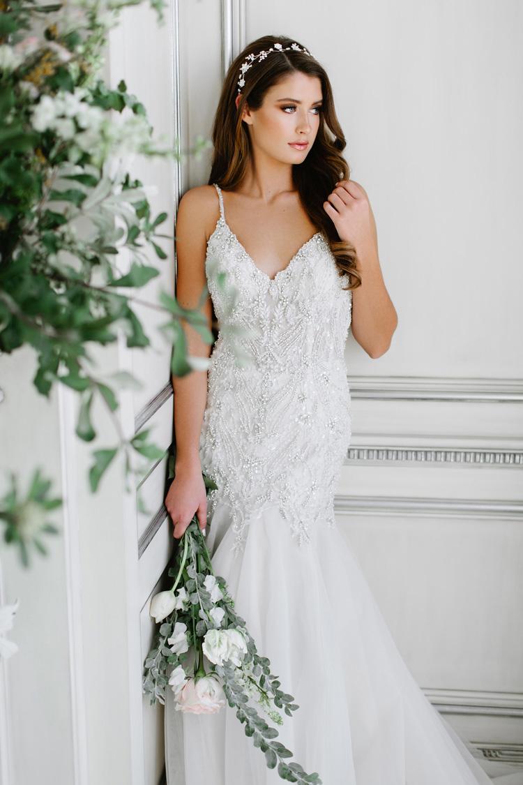 Bonny Bridal 8816 Ivory/Silver Retail Price $2141 | Our Price $1499