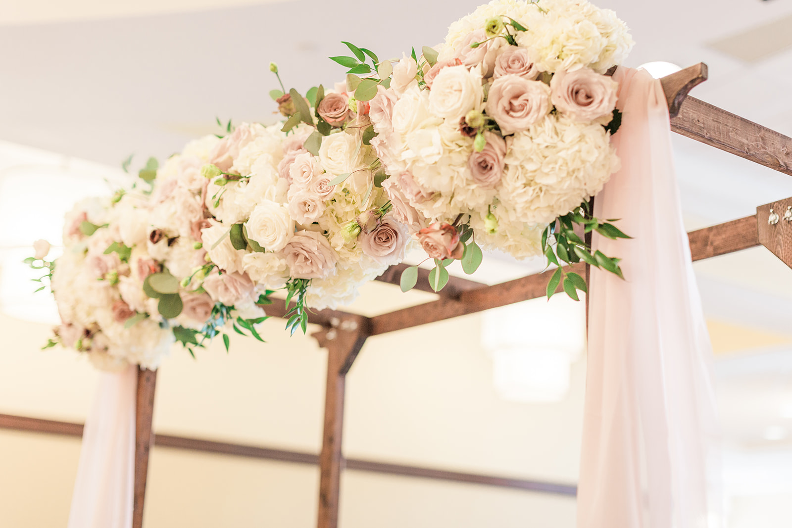 floral hydrangea arch
