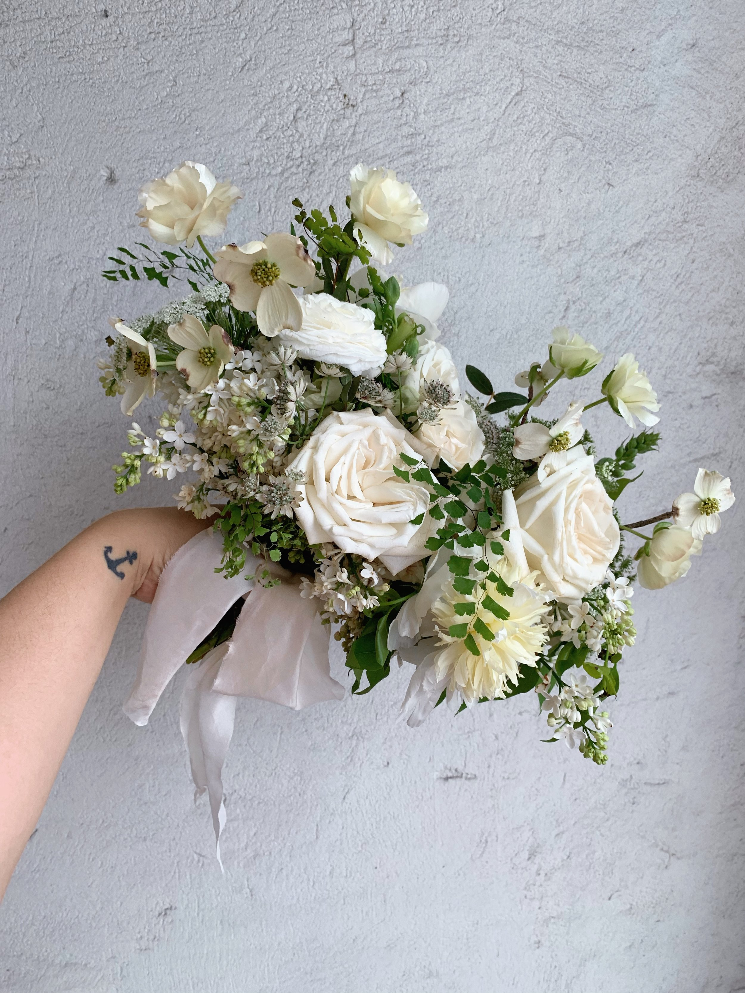 white dog wood bouquet