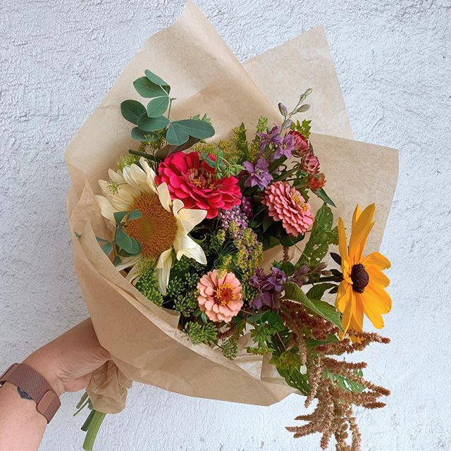 Need a little midweek pick me up. Wrapped mixed bouquets starting at $15.