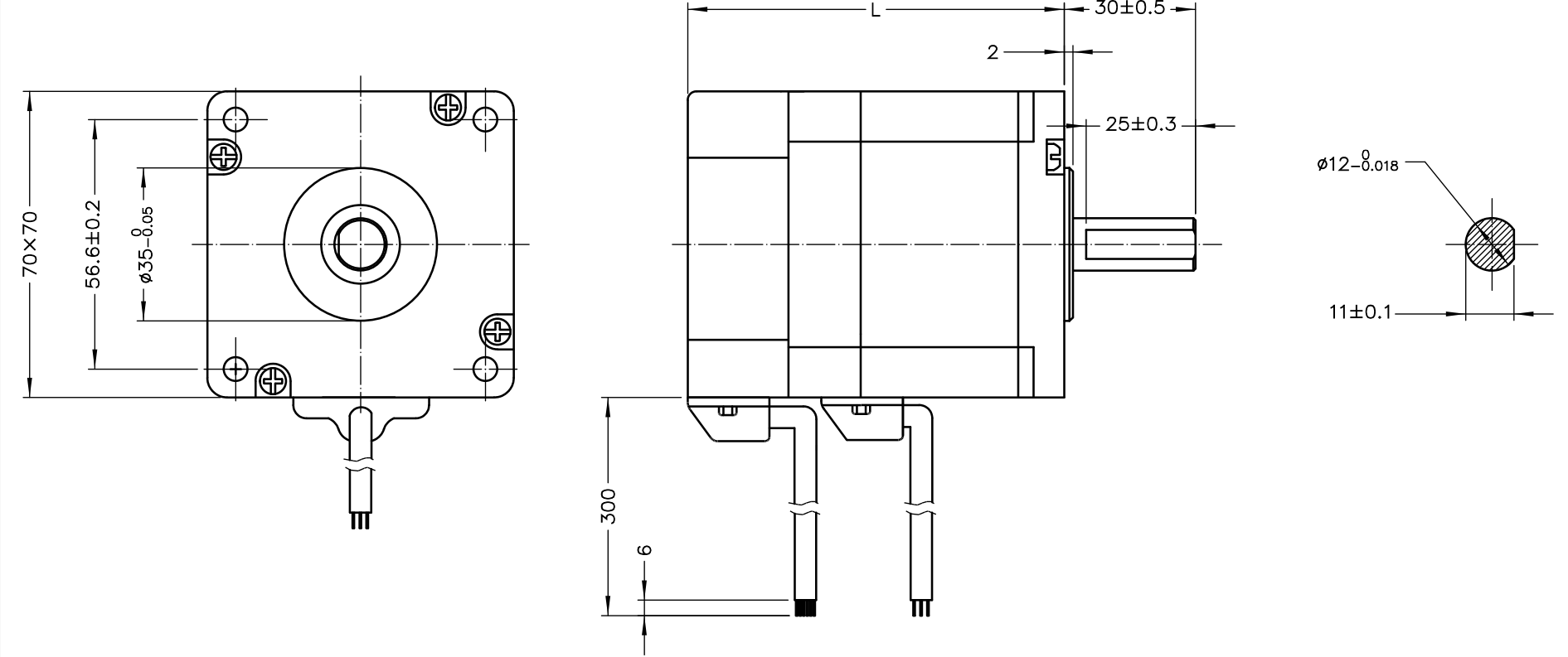 NEMA 28 BLDC Motor Drawing