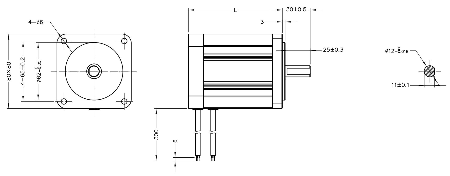 NEMA 32 BLDC Drawing