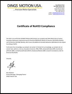 RoHs 3 Compliance