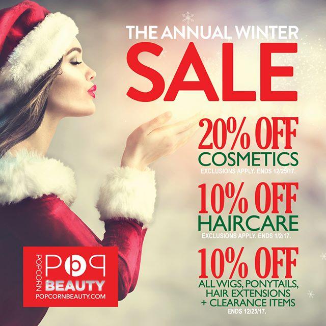 Pssst…Popcorn Beauty's Annual Winter Sale starts today! Hurry!! . . . . . . #beauty #beautyblog #beautyblogger #beautyproducts #makeup #instabeauty #hair #hairstylist #limua #mua #longislandbeauty #popcornbeauty #longisland #Instamakeupartist #makeupaddict #haircareproducts #longislandmua #makeupartist #hairproducts #hairextensions #wigs #makeupobsessed