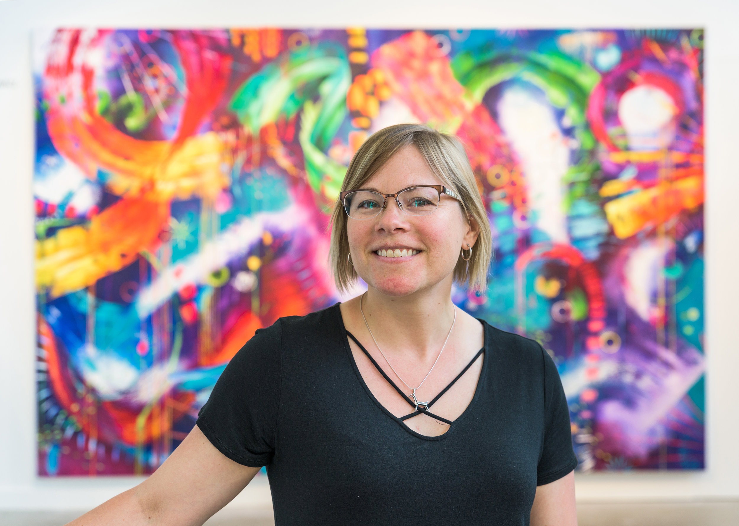 About Sherry - Born in 1980 and raised in Ellicott City, Maryland, Sherry Jankiewicz studied Art Education at the University of Maryland, College Park, and began teaching middle school art in the Howard County Public School System in Maryland. She qualified for a Fulbright Scholarship Program with UMBC in 2010, traveling abroad to Mexico to study art history. In 2013, Sherry and a friend created a project in Blantyre, Malawi to paint a mural in a city park with orphaned children residing with the Samaritan Trust Program. Inspired through travel and the desire for adventure, Sherry left teaching in 2016 to pursue her Masters in Fine Arts specializing in Print Media in Portland, Oregon, graduating in 2018 and currently resides and works in Portland. When not in the studio, Sherry can be found rock-climbing, hiking, biking around the city, and reading while sipping on Oregon's amazing wines.