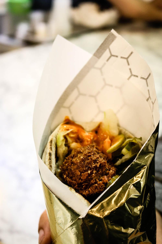 falafel in wrapper