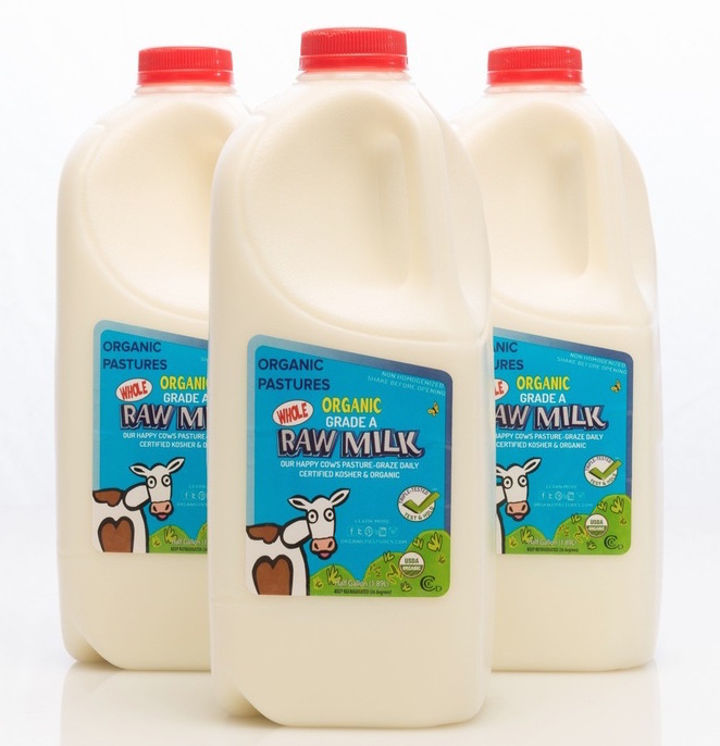 Photo:   Organic Pastures raw milk