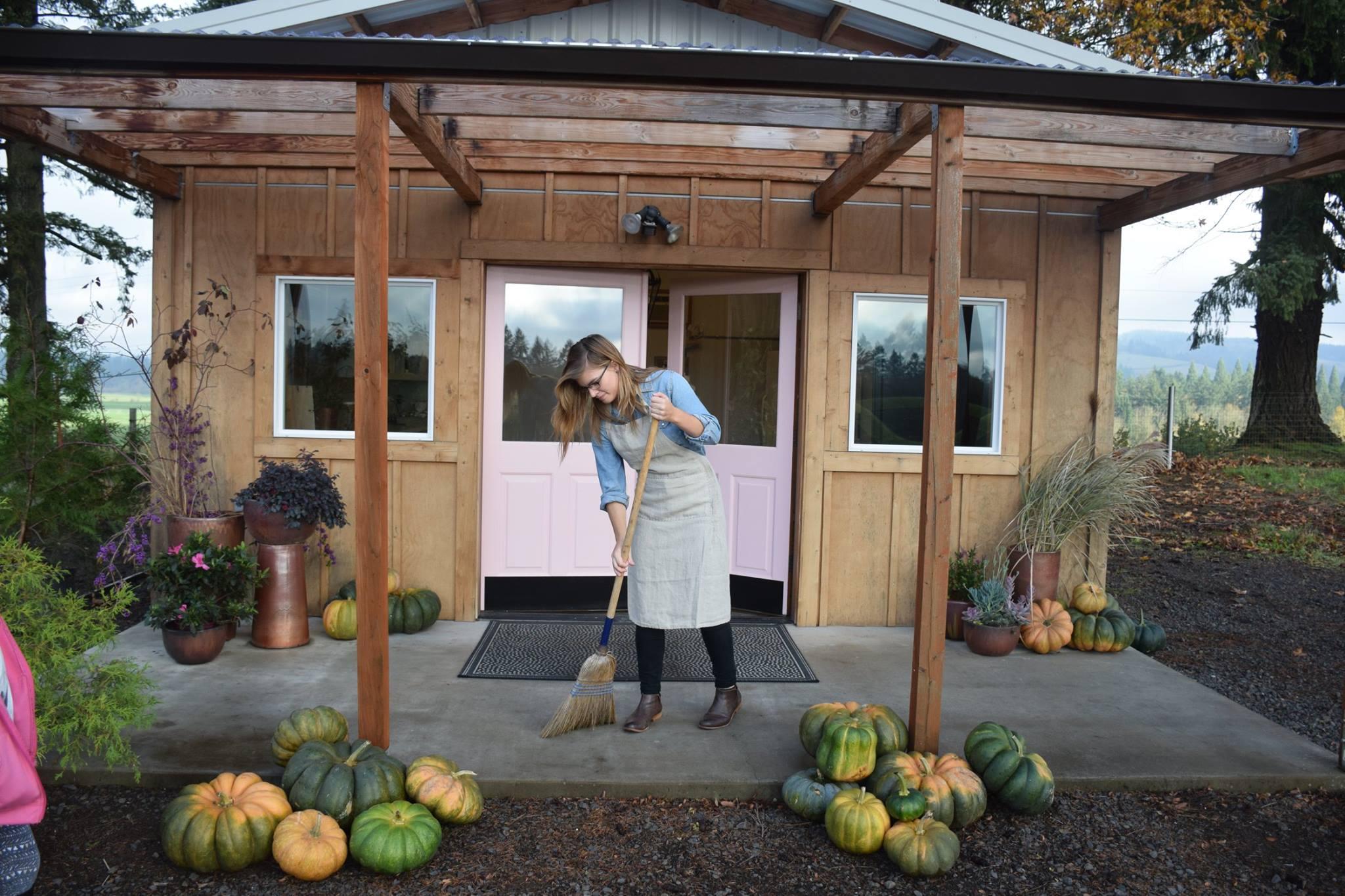 The farm store just outside St. Paul, Oregon, USA
