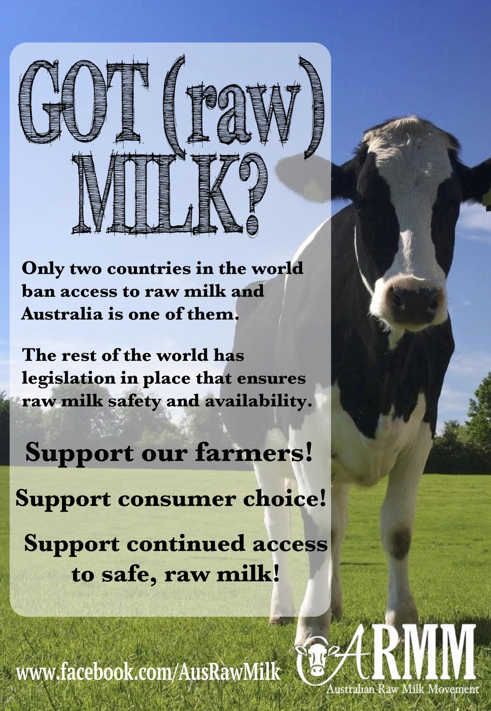 legalise raw milk australia