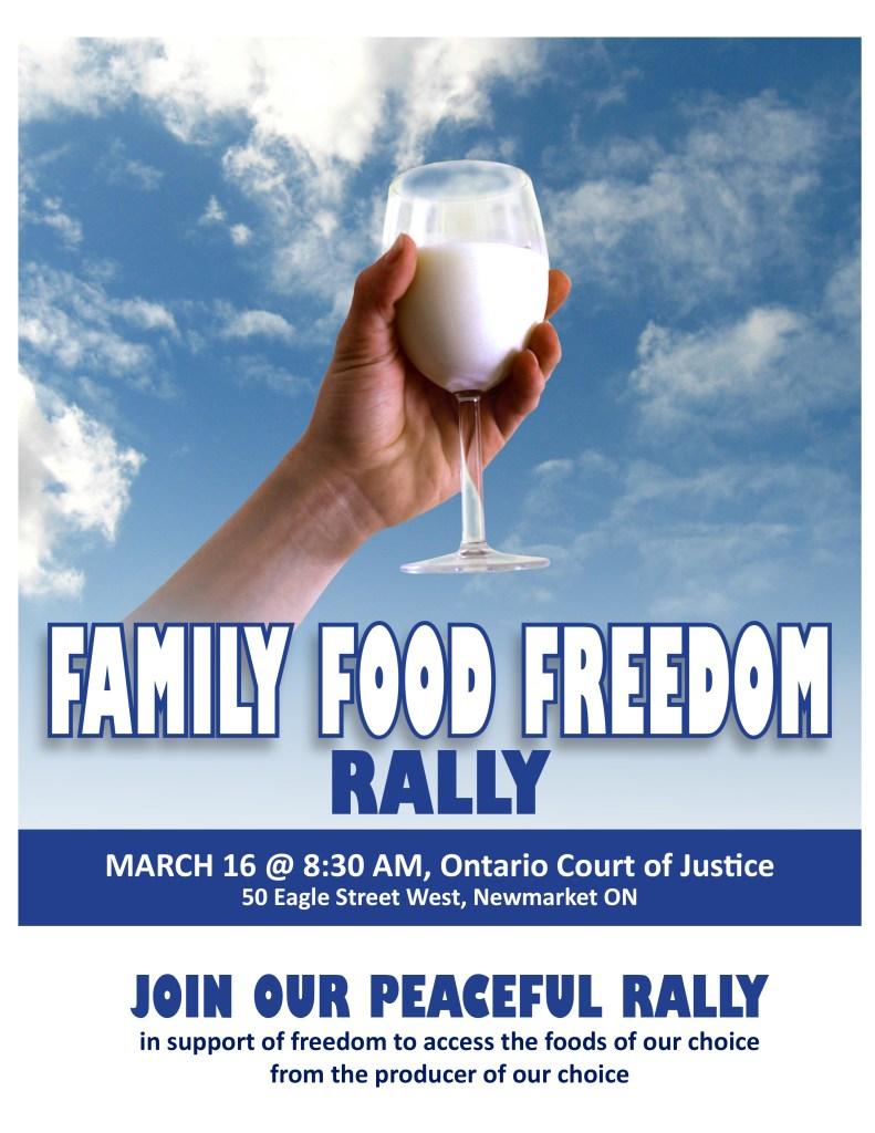 food freedom rally raw milk canada