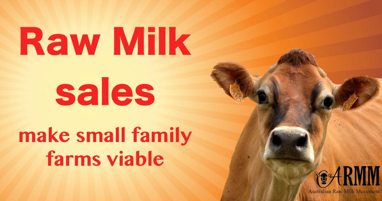 raw milk sales in Queensland, victoria, new south wales australia