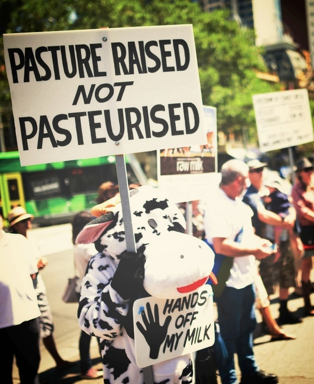 Photo:   Eat Buy Grow rally in front of Parliament House, Melbourne 2015