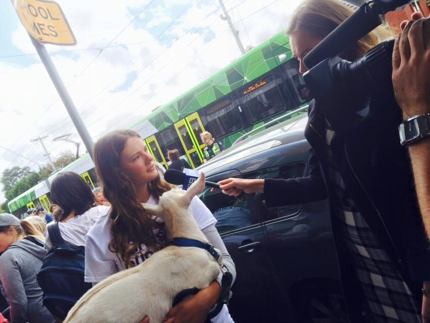 Channel 9 interviews raw milk supporter Madelaine Scott