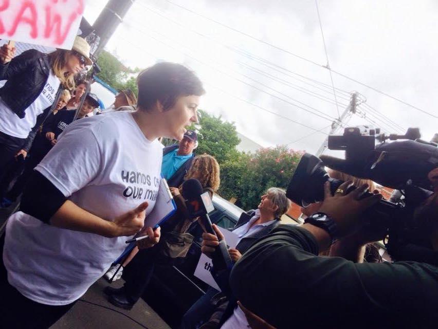 Rebecca Freer being interviewed on raw milk