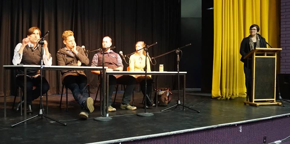 The Raw Milk Panelists with presenter Rebecca Freer
