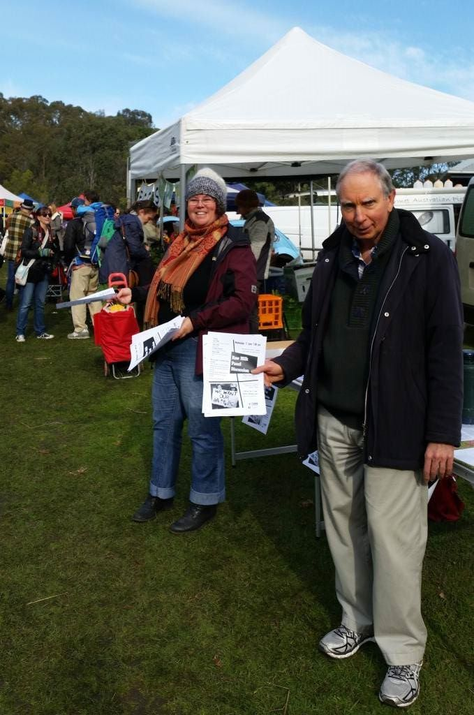 Raw Milk supporters handing out flyers