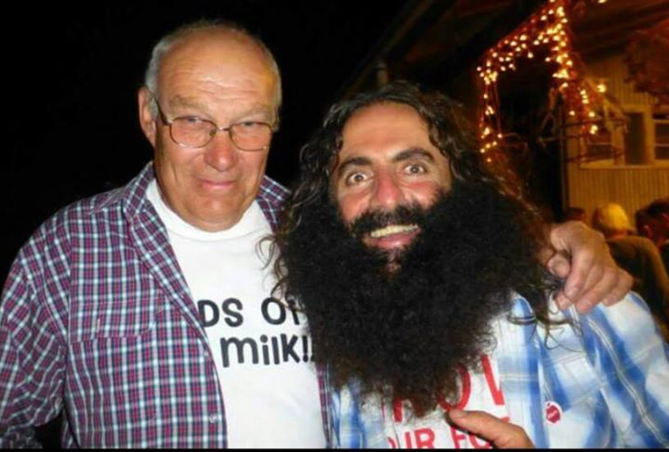 Dairy farmer Reg Matthews and Costa