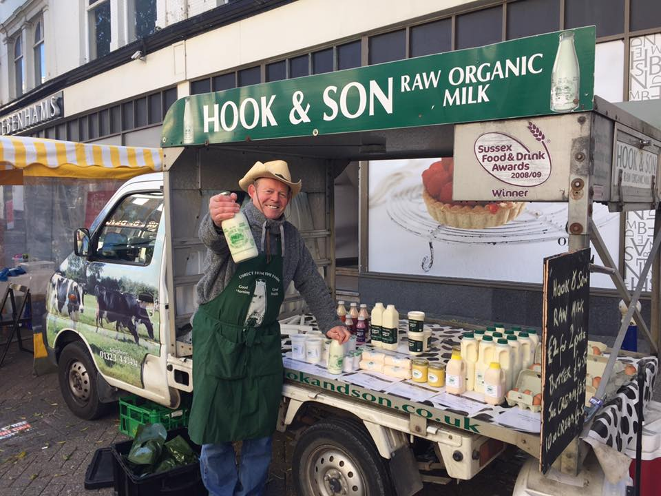 Photos:   Hook and Son at a local farmers market by Eastbourne Borough Market. Click to enlarge.