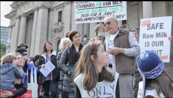 Image:   from our Petition and Raw Milk Drink In  event.