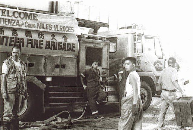 firefighters on rizal ave., manila