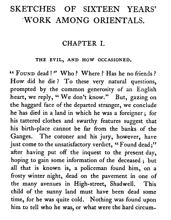 Excerpt from Joseph Salter,  The Asiatic in England  (1873).