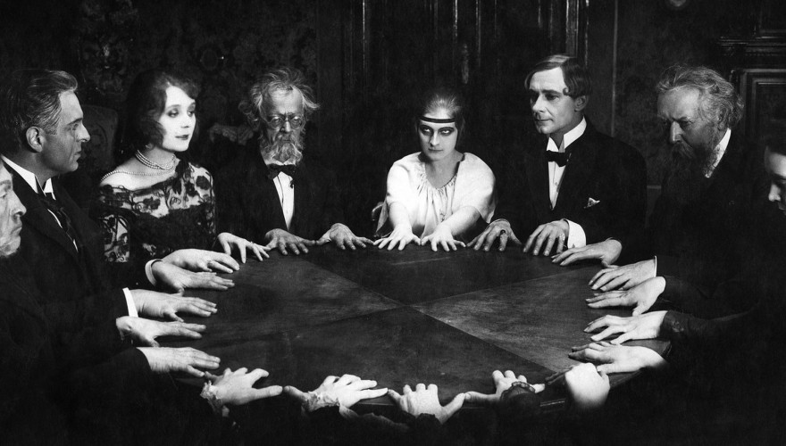 A Seance scene in the classic German silent film Dr Mabuse (1922), directed by Fritz Lang. Photograph: Bettmann/Corbis   Source