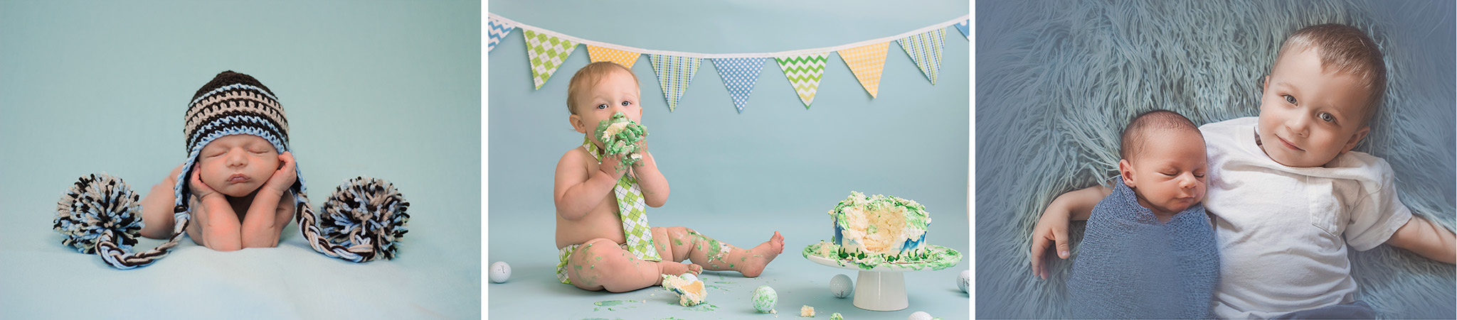 Here's my buddy Landon during his newborn session, Cake Smash session, and his little brother's newborn session! <3 Love this family! They are always willing to model! Thank goodness because they are pretty good looking people! <3 This family has been with me since the very beginning!