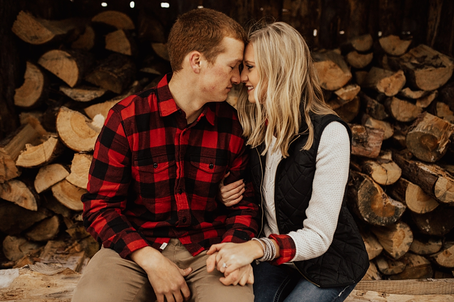Hailey & Dan Hansens Tree Farm Engagement Session in Anoka, MN_0089.jpg