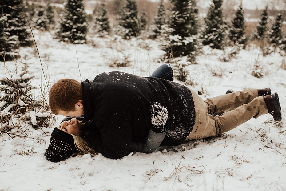 Hailey & Dan Hansens Tree Farm Engagement Session in Anoka, MN_0100.jpg