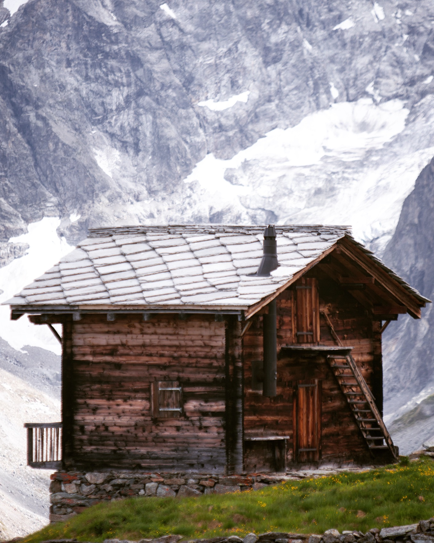 Day 6:   Arolla, Swiss   High in the Alps, shale roofed and logged walls, on the edge of a valley, in front of a snow capped mountain. You either yearn for this, or a lazy beach; the distinction—make or break.