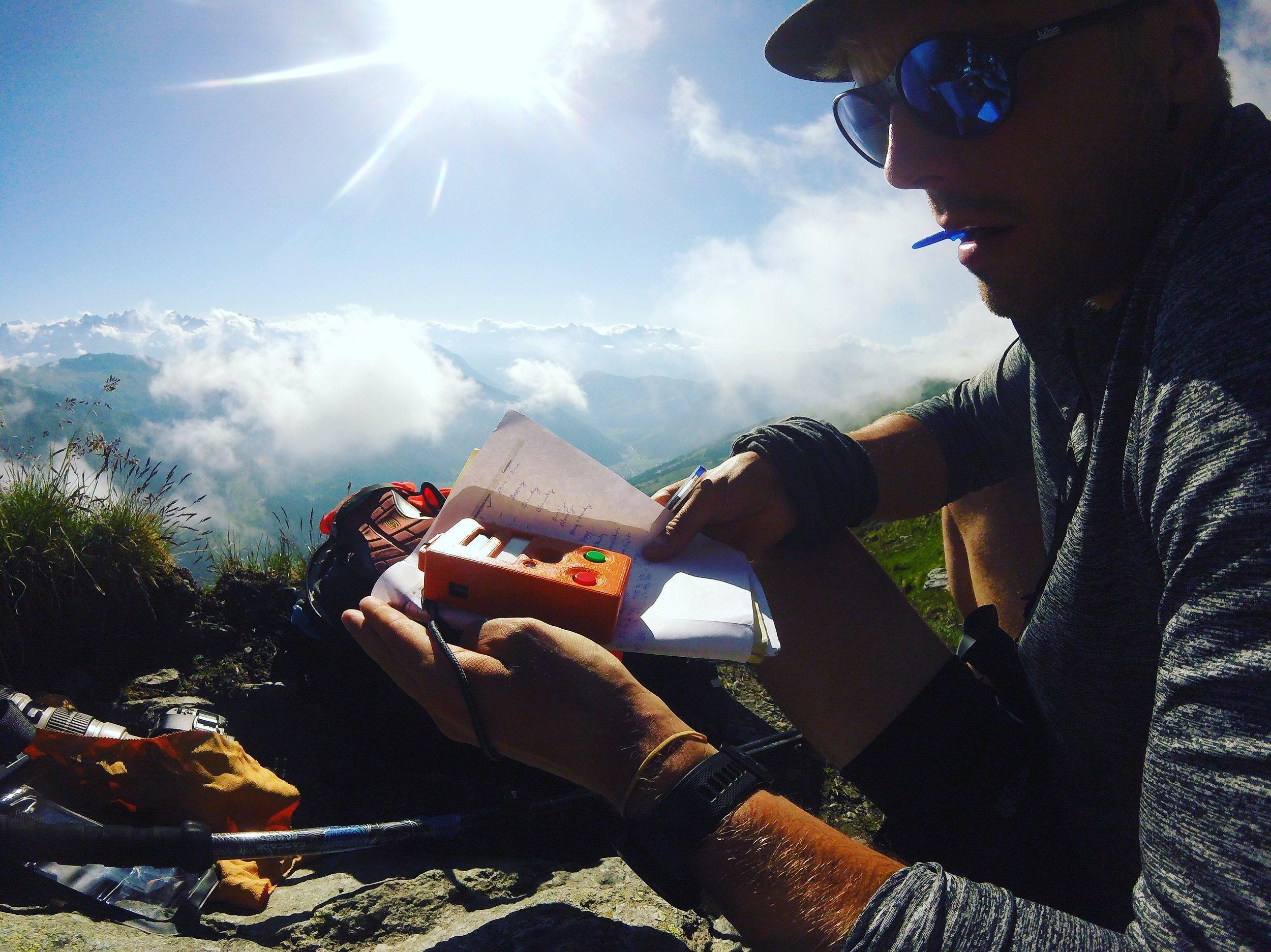 Recording in the Alps