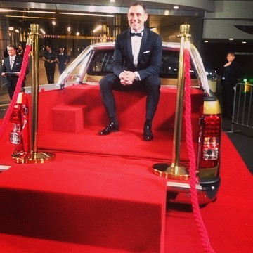 Exciting to have @cameron9smith take a seat for an interview in our latest creation where we converted a Holden Colorado i to a VIP red carpet booth for The NRL Dally M Awards last night!  #dallym #redcarpet #awards #nrl #bespoke #brand #marketing #experiential