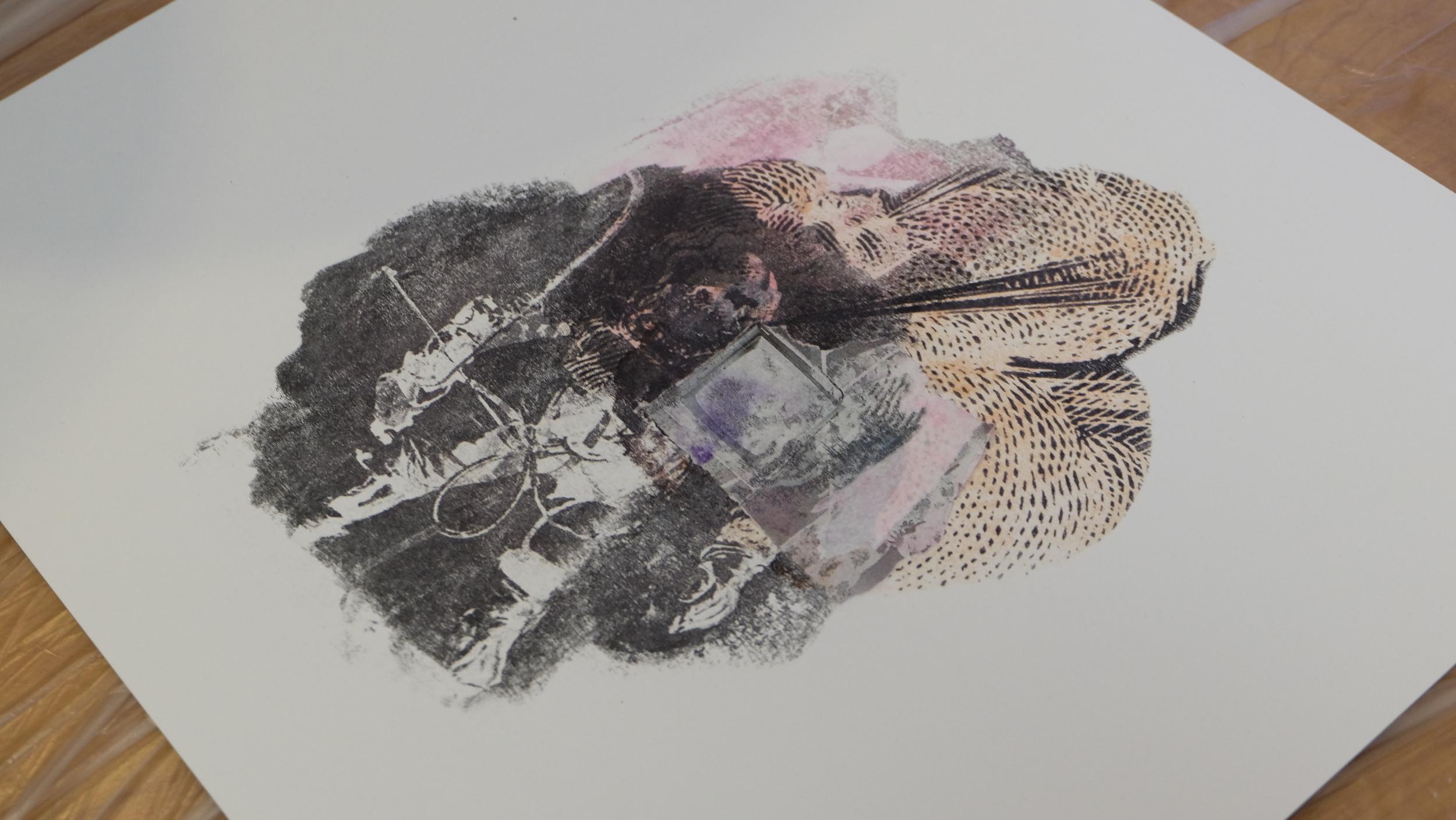 Rachael's fossil, in progress