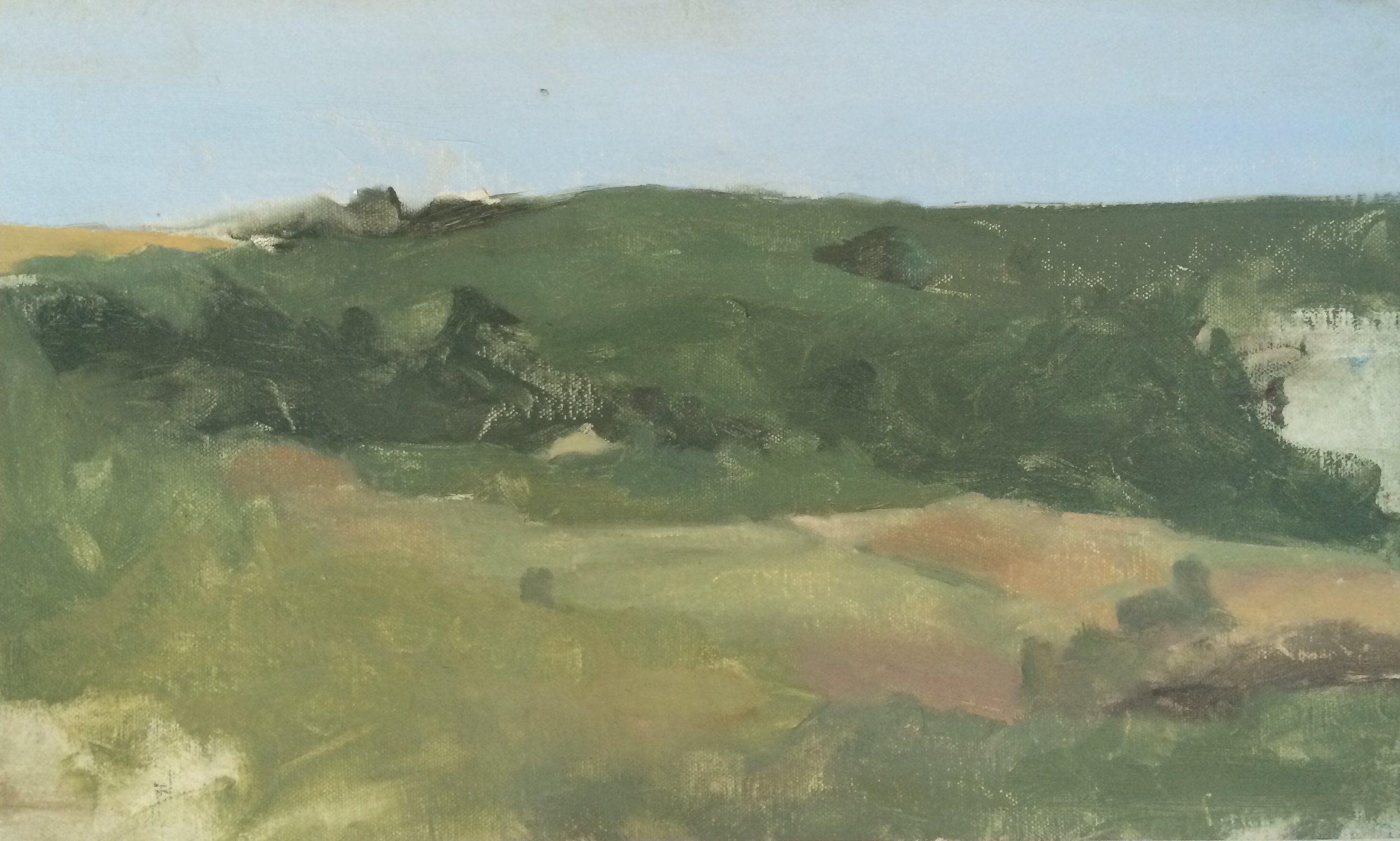 """Civita Hill"" 6"" x 10"" oil on canvas mounted on board"