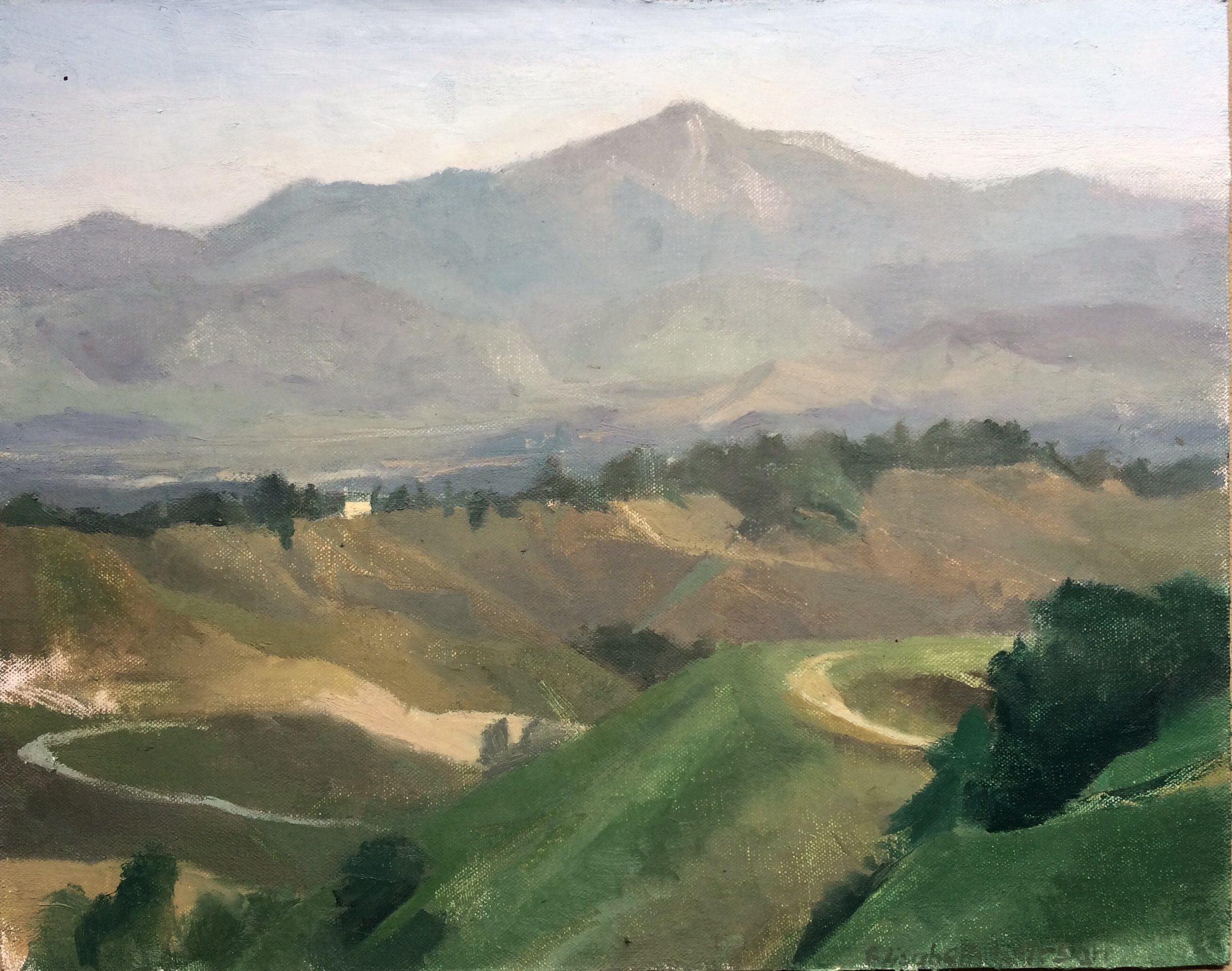 """Redlands, California"" 11"" x 14"" oil on canvas, private collection"