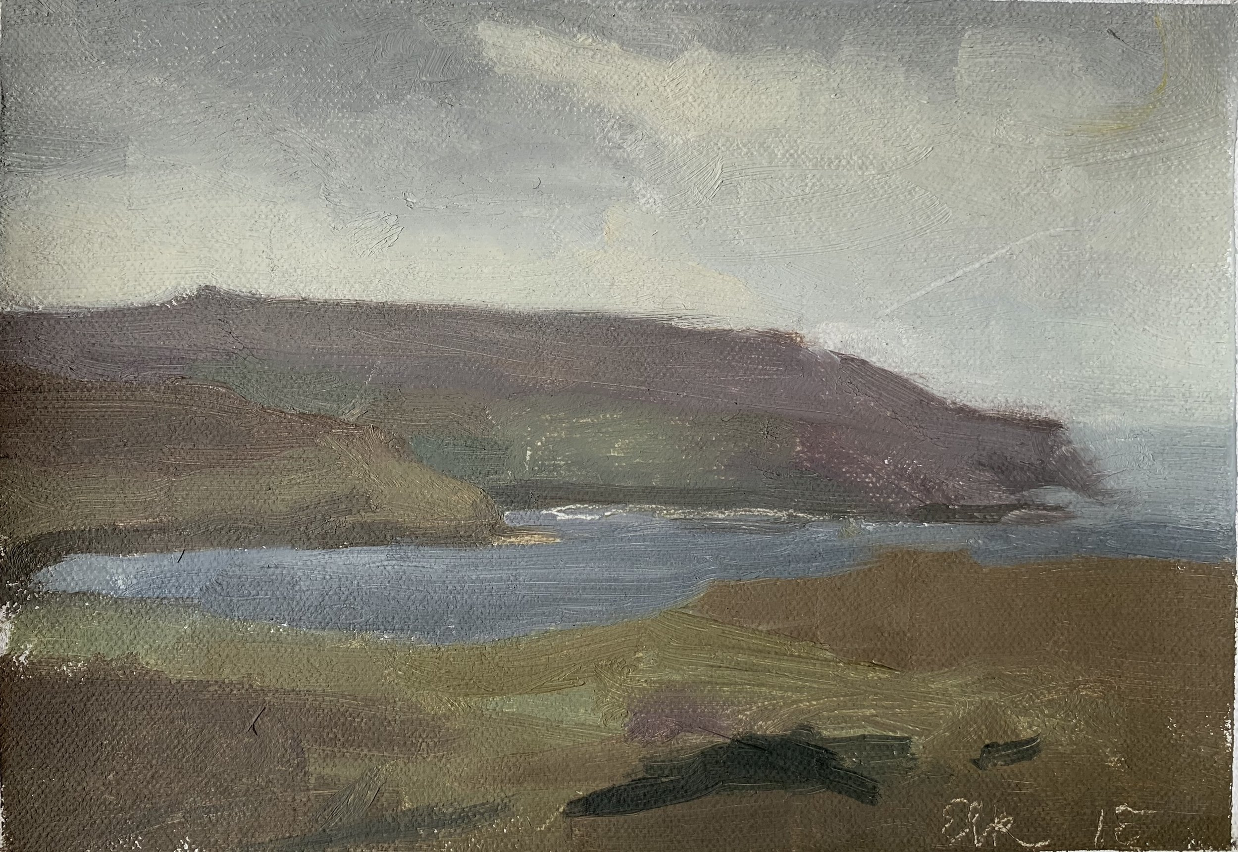 """Isle of Skye, Scotland"" 7"" x 9"" oil on canvas, private collection"
