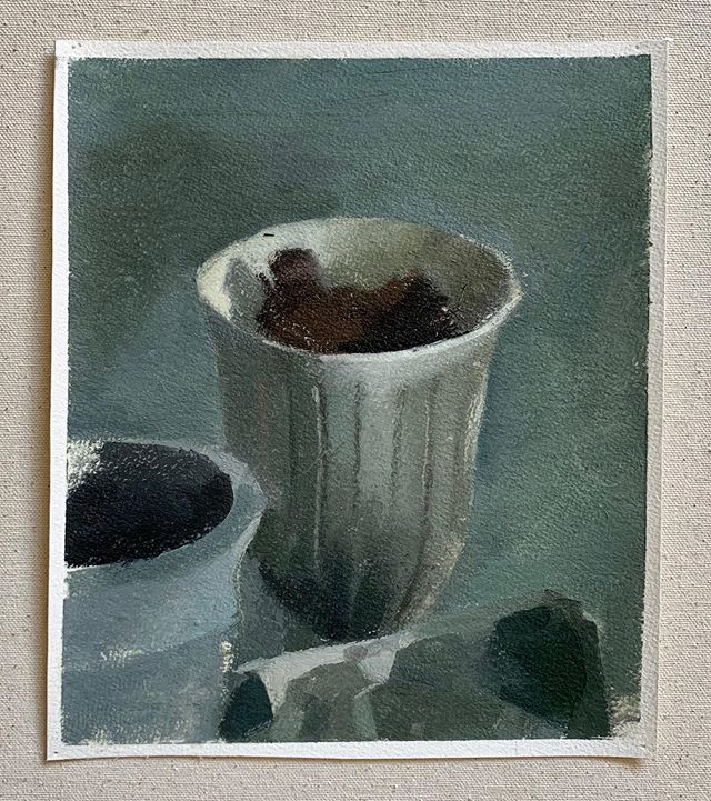 A little still life from last week, oil on paper, 8 x 10 in