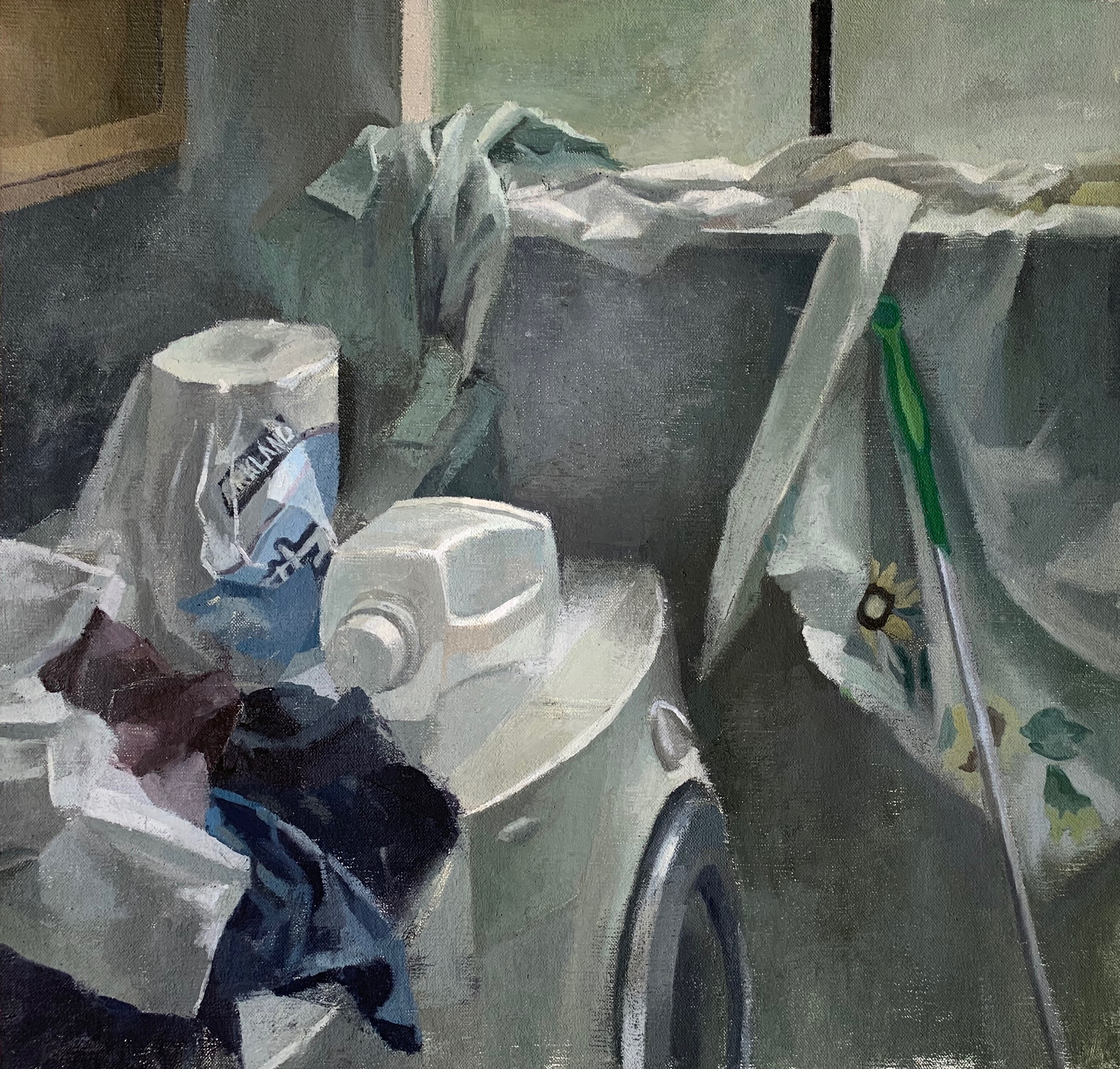 """The Laundry Room""  17.5"" x 18"" oil on linen mounted on board"