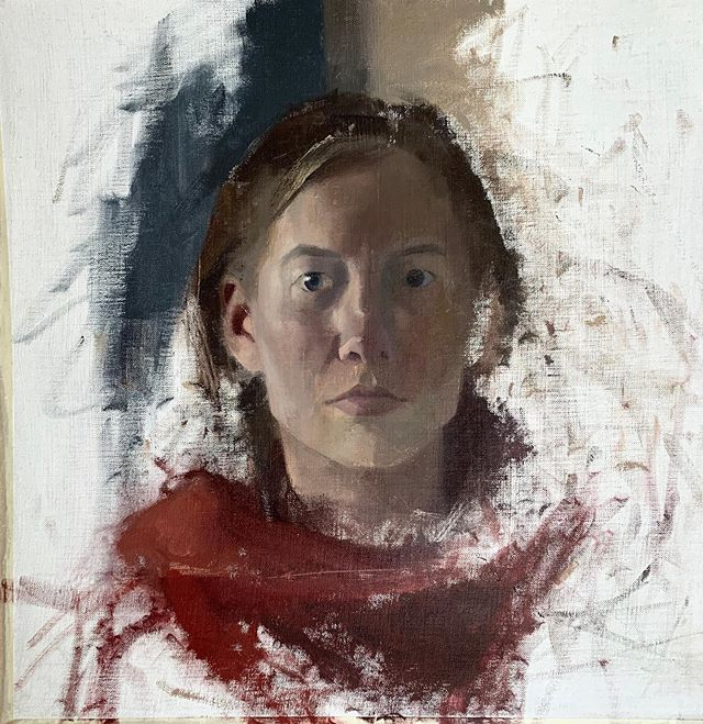 An unfinished portrait. I forgot this painting was in the corner of my studio! I have been developing an ever growing interest in wanting to do more portraits/ work with the figure. So, hopefully there will be more of that showing up here ;-)
