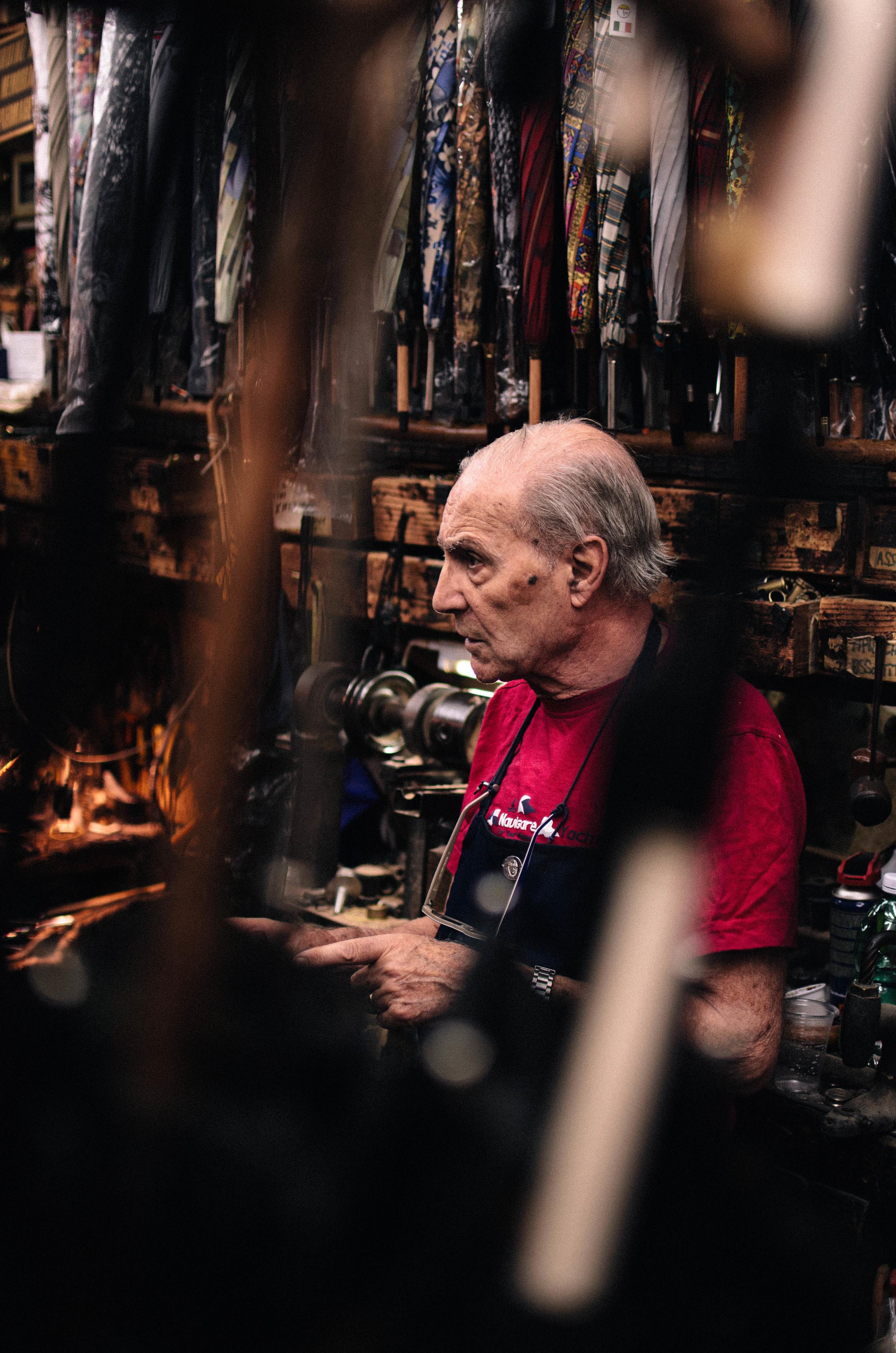 Mario Talarico -Master Umbrella Maker (Naples, Italy)