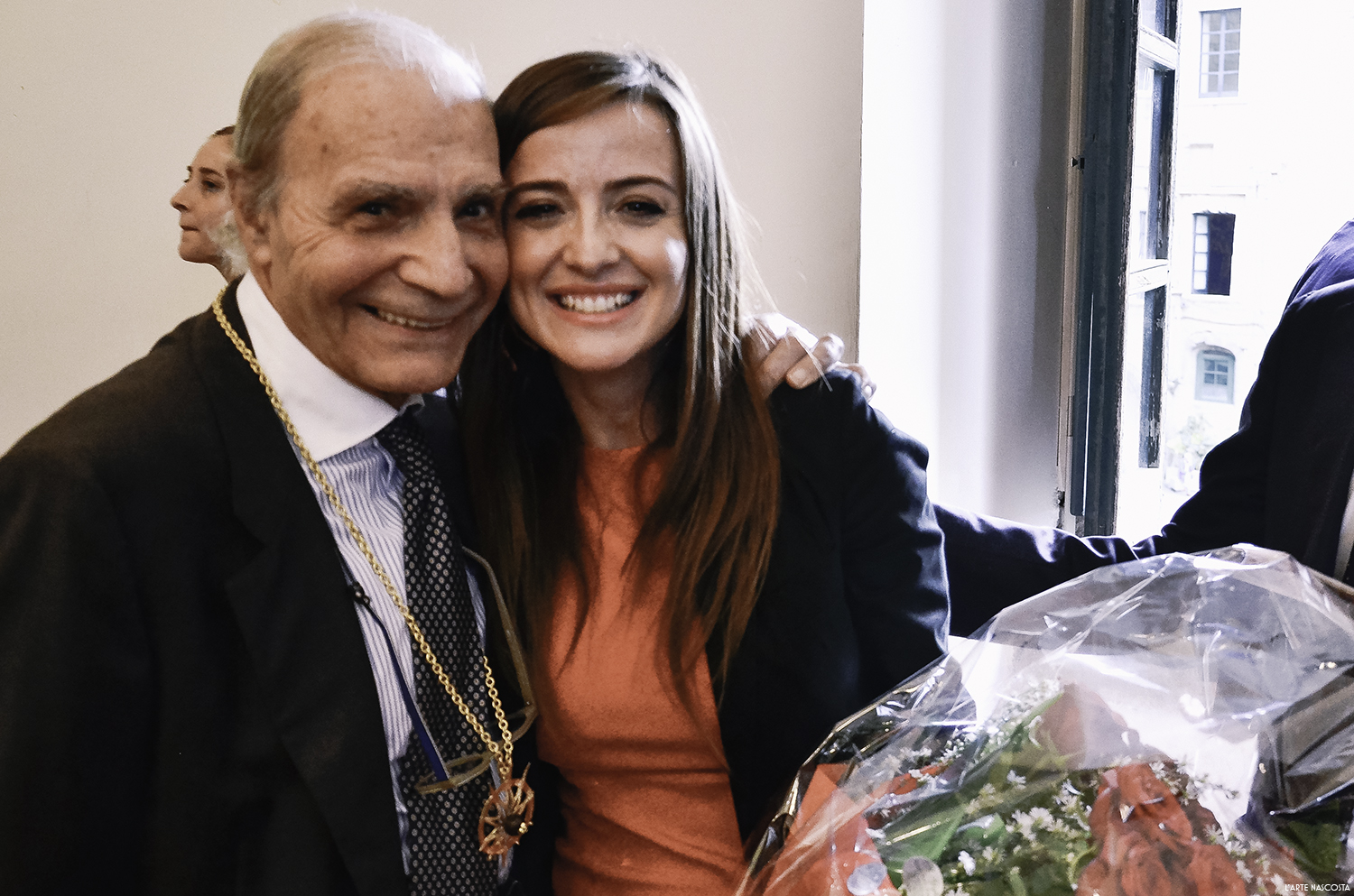 Mario and Roberta after Mario was awarded the  Magister Artis star.
