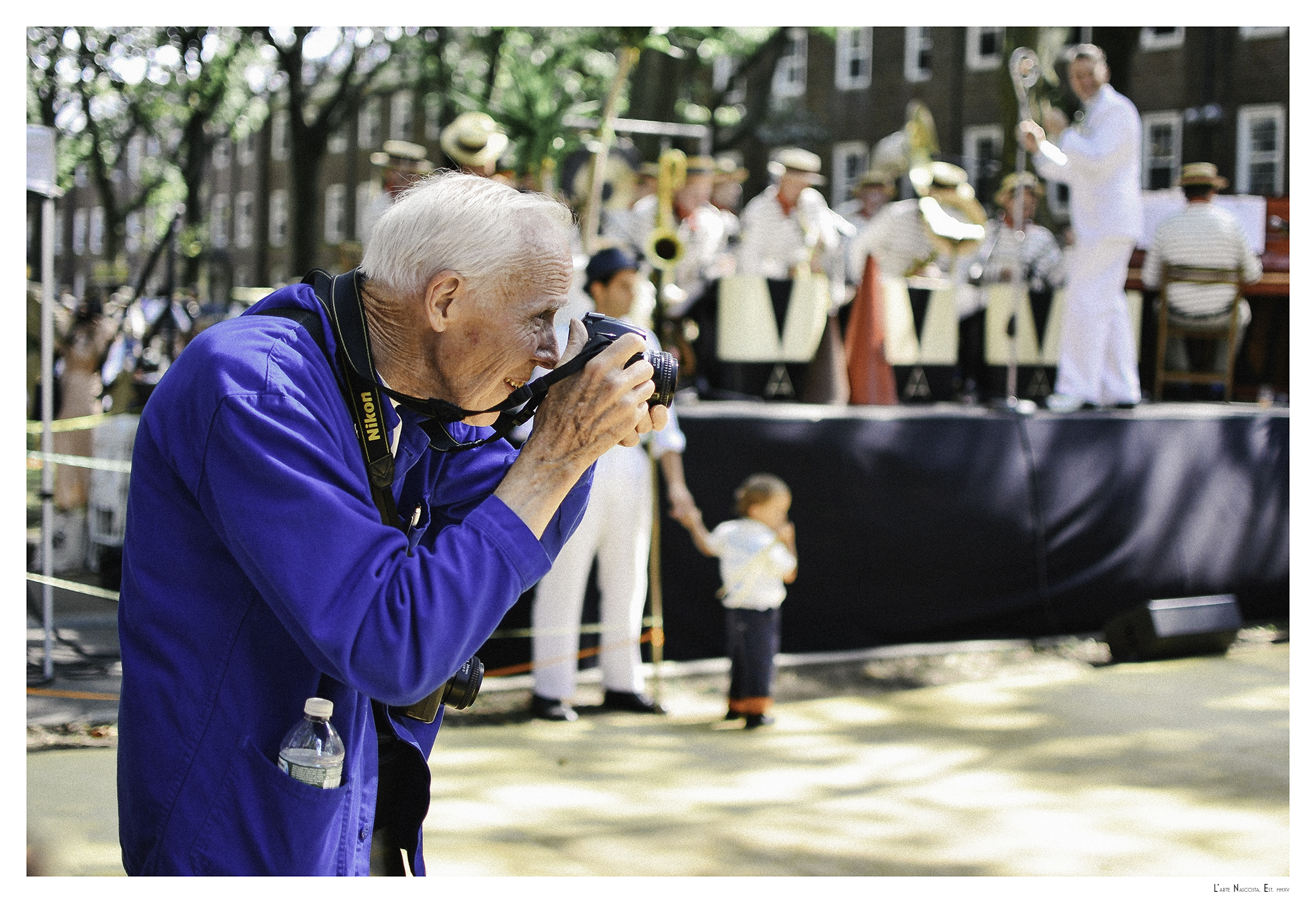 Bill Cunningham at the Jazz Age Lawn Party - August, 2013