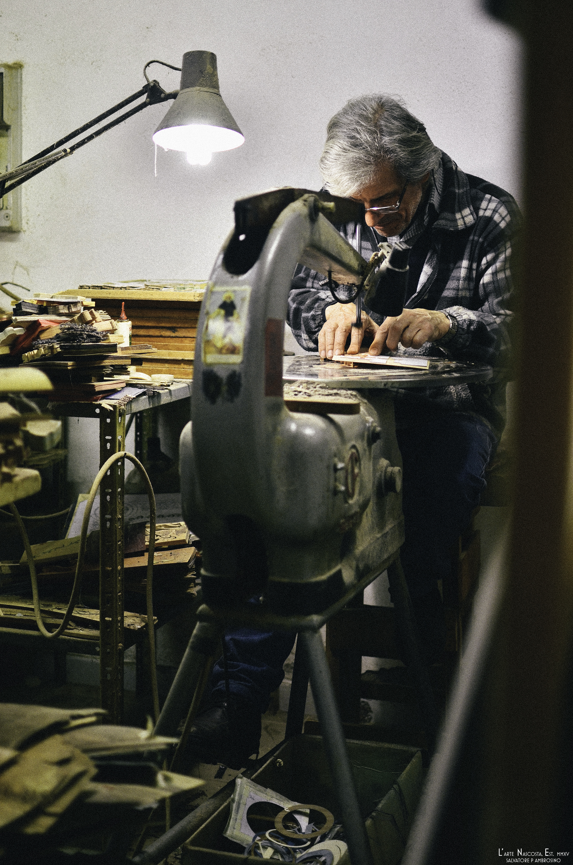 Pasquale Famiani - Intarsiatore (Marquetry Craftsman)  , Sorrento
