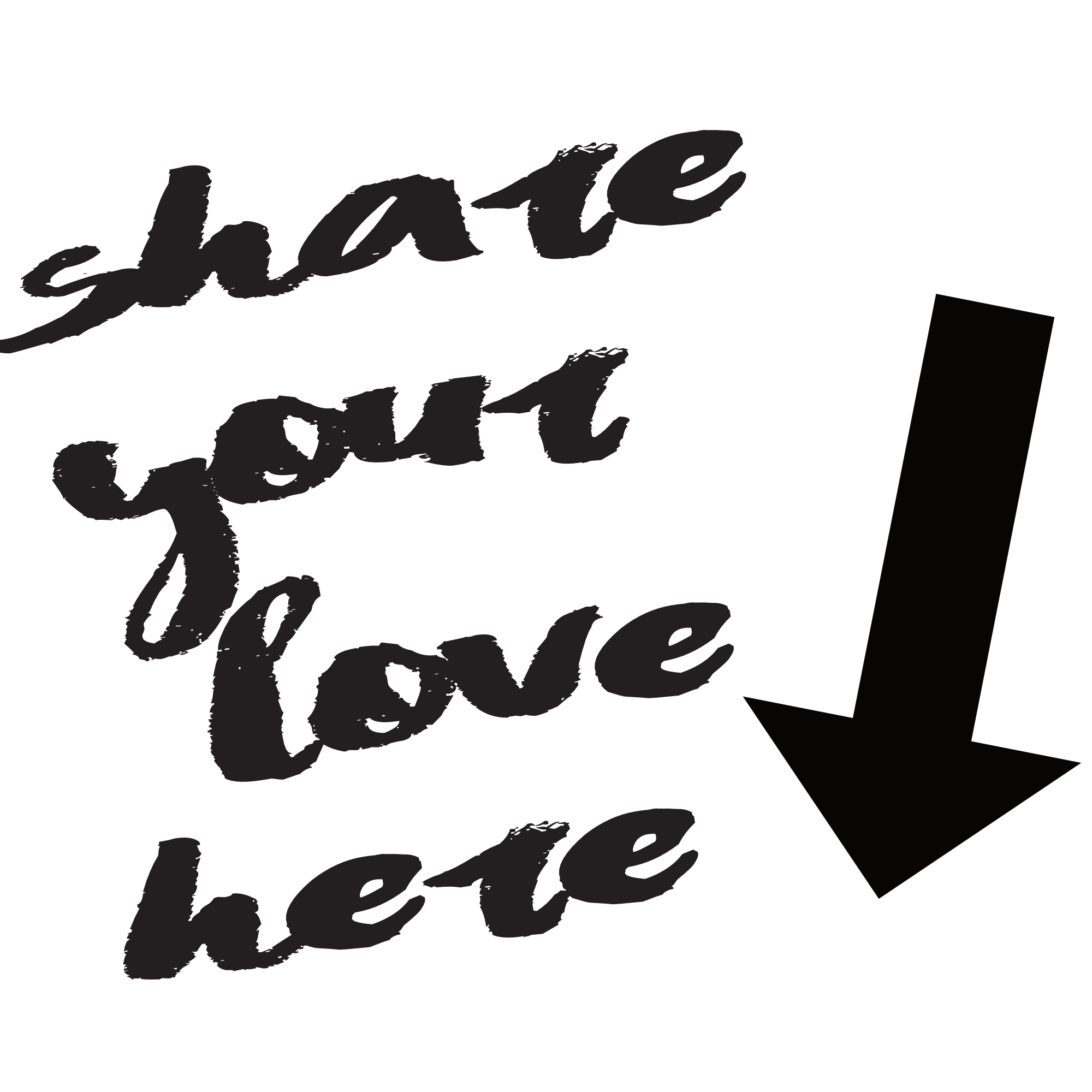 share your love here (downward arrow)