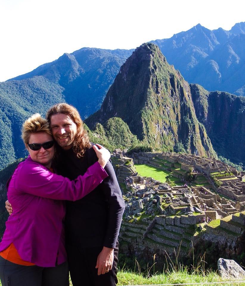 Chad and His wife Jen on the Inca Trail above Machu Picchu, Peru.