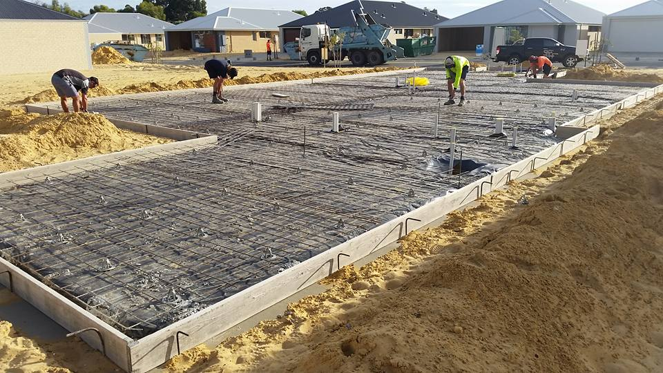Bunbury Slab being poured - the Southern Built Homes team working hard.